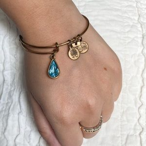 ALEX AND ANI Water Drop Gold Wire Bangle Bracelet